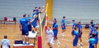 Vôlei Ribeirão treinando (Foto: Rafael Gonçalves FollowX/Comunicação)
