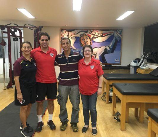 Fisioterapeuta conheceu a estrutura e os profissionais do CT da Barra Funda e do CT de Cotia (Foto: Divulgação)